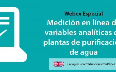 Nuevo webinario – Medición en línea de variables analíticas en plantas de purificación de agua